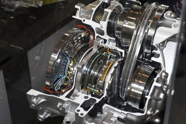 Automatic gearbox cut-through view